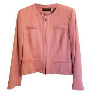 Dana Buchman Blush Pink 100% Cashmere Blazer Sz 14